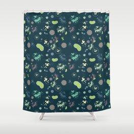 Micro-organisms Shower Curtain