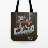 ape Tote Bags featuring Ape not kill ape by Berta Merlotte