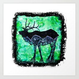 Elk Mountain Art Print