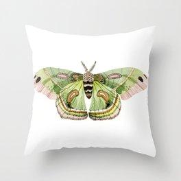 Green Cecropia Moth Throw Pillow