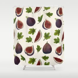 Figs and Leaves Shower Curtain