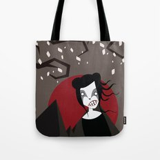 Under The Red Moon Tote Bag