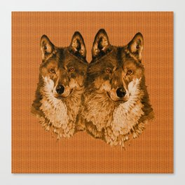 Season of the Wolf - Duet in Gold Canvas Print