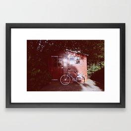 Backyard Bike Framed Art Print