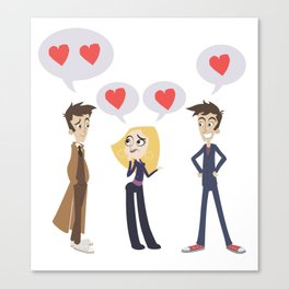 Tenth Doctor and his two hearts Canvas Print