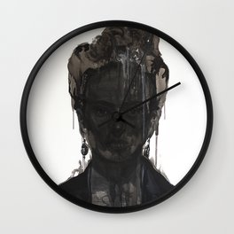 Portrait of Frida Kahlo Wall Clock