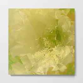 Cactus Orchid Light Green Cubist Metal Print
