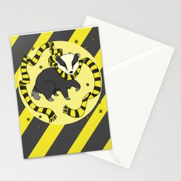 Hard Working Badger (gray) Stationery Cards