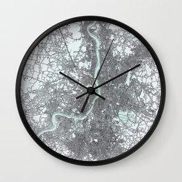 Kolkata, India, White, City, Map Wall Clock