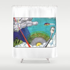 Music on the Horizon by Cap Blackard Shower Curtain