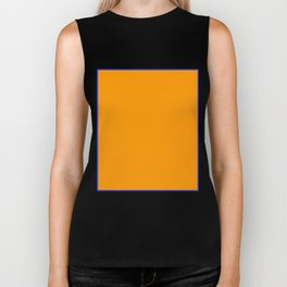Orange Rectangle Biker Tank