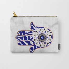 Talk to the Evil Eye Hamsa Hand Carry-All Pouch