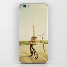 Woman on Bicycle in Berlin iPhone Skin