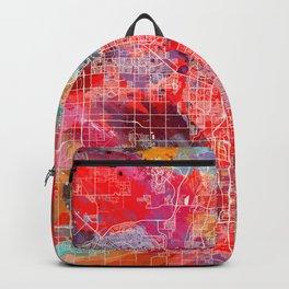 Glendale map Arizona painting 2 Backpack