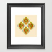60's Pattern Framed Art Print
