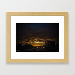 head out on the highway Framed Art Print