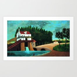Le Moulin, Paris, France by Henri Rousseau Art Print