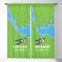 lake marion South Carolina lake map Blackout Curtain
