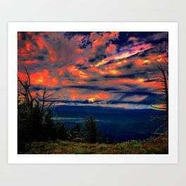 Psychedelic Sunset Art Print
