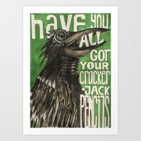Have You All Got Your Cracker Jack Pencils? Art Print