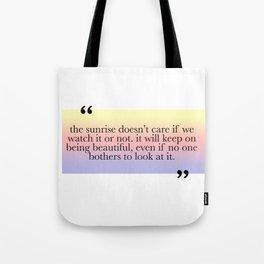 Being Beautiful Tote Bag