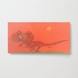 Frilled Lizard Metal Print