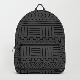Mud Cloth on Linen Backpack