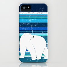 Polar bear horizontal Slim Case iPhone (5, 5s)