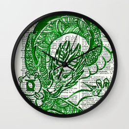 The Jade Dragon (Green Lantern: Kyle Rayner) Wall Clock
