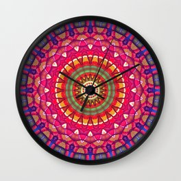 Rainbow Peace Mandala 02 Wall Clock