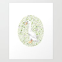 duck Art Prints featuring Duck by Erik Krenz