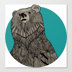 Beary Sketch Canvas Print