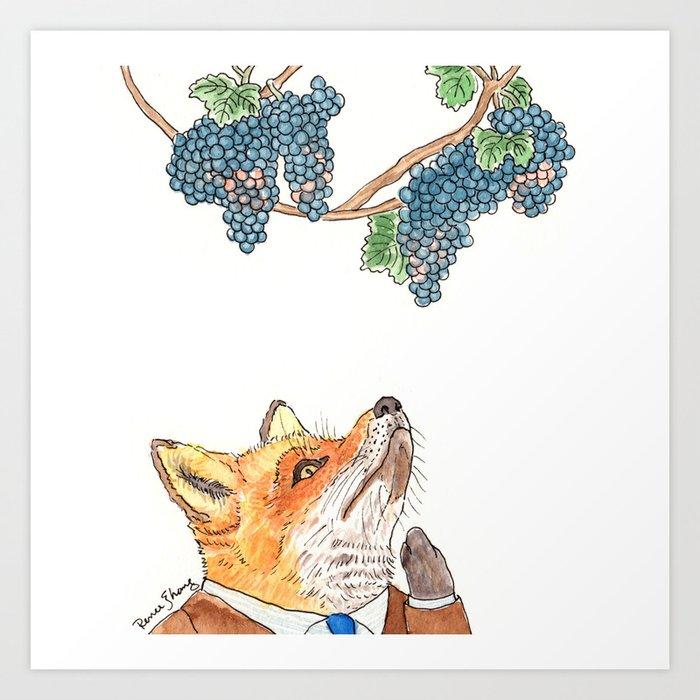 Sour Grapes Art Print