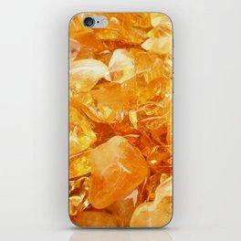 """Amber Quartz Solar Orange Crystal Opal Gem Stone"" iPhone Skin"