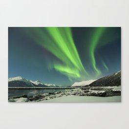 Turnagain Arm Aurora Canvas Print