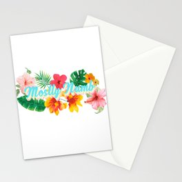 Mostly Numb Tropical Stationery Cards