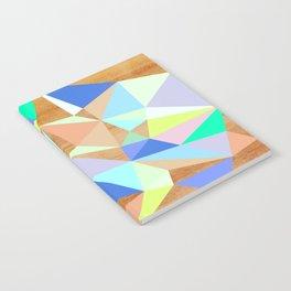 Wooden Geo Aqua Notebook