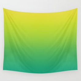 Meadowlark, Lime Punch, Arcadia Blurred Minimal Gradient | Pantone colors of the year 2018 Wall Tapestry