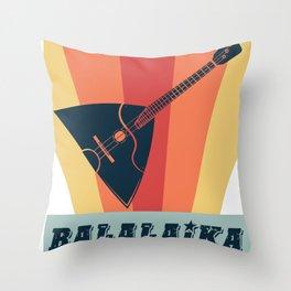 Balalaika Russia music instrument Throw Pillow