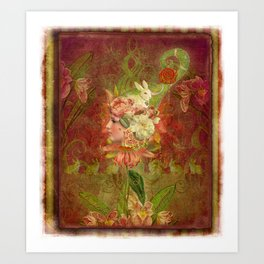 Les Jardins Des Lapins (The Garden of Rabbits) Art Print