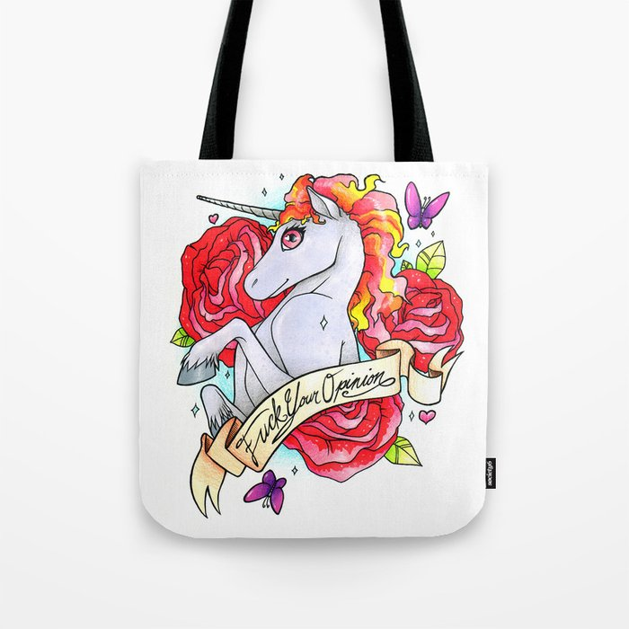 350bb41c273b F ck Your Opinion Tote Bag by findchaos