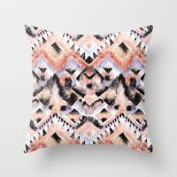 southwest Throw Pillows featuring Southwest Floral by Casey Saccomanno