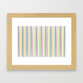 lovely stripes navy Framed Art Print
