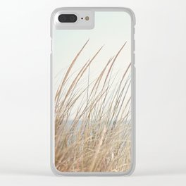 Beach Grass Photography, Calming Coastal Photo Print, Relaxing Beach House Photograph, Seaside Photo Clear iPhone Case