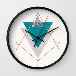 TEAL COPPER AND BLUSH GEOMETRIC Wall Clock