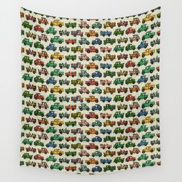 Cars and Trucks Wall Tapestry