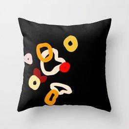 dark abstract Throw Pillow