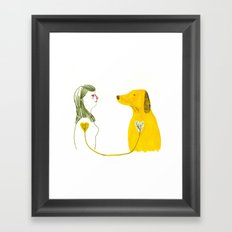 LOVE AND DOGS part 2 Framed Art Print