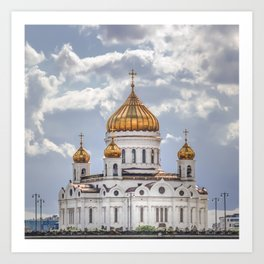 Cathedral of Christ the Saviour, Moscow Art Print
