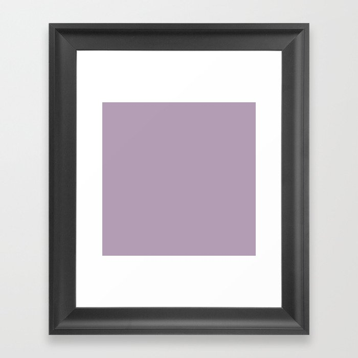 Dark Chalky Pastel Purple Solid Color Gerahmter Kunstdruck